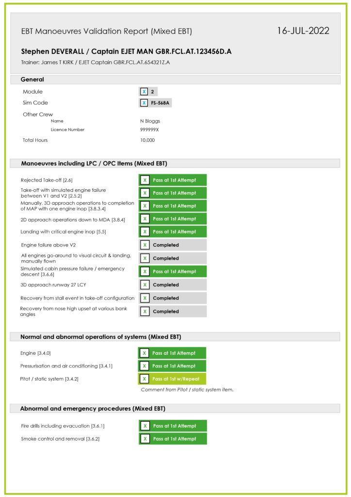 Manoeuvres Validation Form (Mock Up) (Amended)9